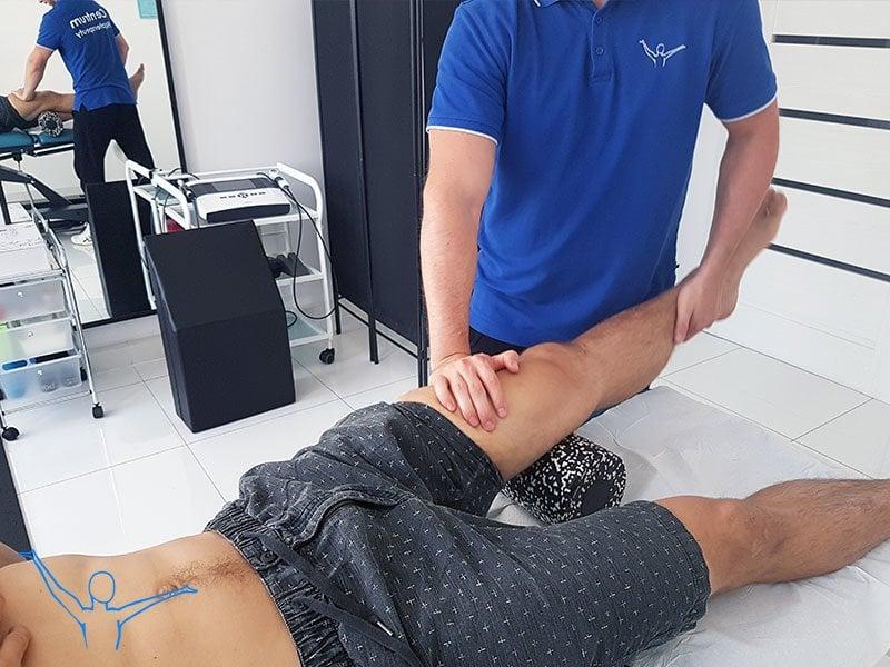 Mięsień czworogłowy uda - fizjoterapia